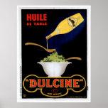 Art vintage d'annonce de nourriture de Huile De