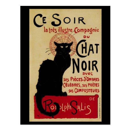 Art vintage Nouveau, Le Chat Noir Carte Postale