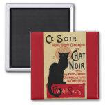 Art vintage Nouveau, Le Chat Noir Magnet Carré