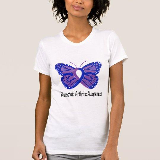 Arthritis-Schmetterlings-Bewusstseins-Band T-Shirt