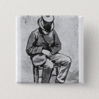 Arthur Rimbaud Quadratischer Button 5,1 Cm