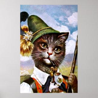 Arthur Thiele - bayerische Alpen-Katze Poster