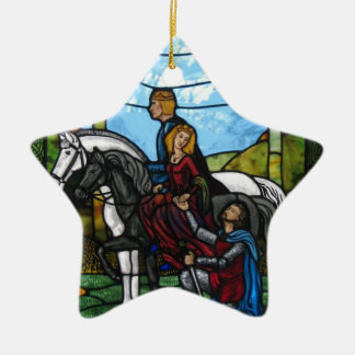 Arthurian Fenster Keramik Ornament