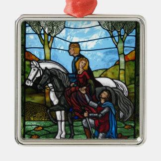 Arthurian Fenster Silbernes Ornament