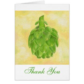 Artischocke danken Ihnen notecard Karte