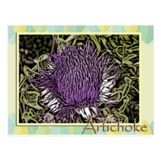 Artischocken-Blume Postkarte