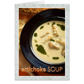Artischocken-Suppen-Rezept Karte