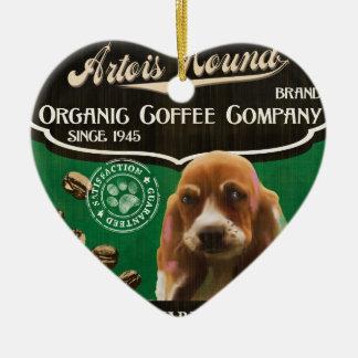 Artois Jagdhund-Marke - Organic Coffee Company Keramik Herz-Ornament