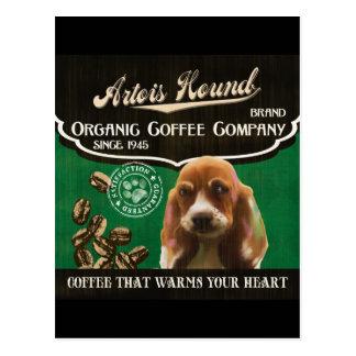 Artois Jagdhund-Marke - Organic Coffee Company Postkarten