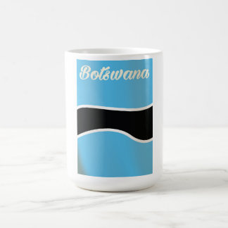 Artreiseplakat nationaler Flagge Botswanas Kaffeetasse