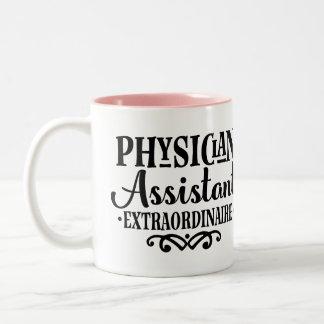 Arzt-behilfliche Extraordinaire Geschenk-Tasse Zweifarbige Tasse