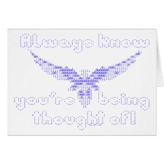 ASCII-Engel - wissen Sie immer Karte