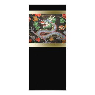Asiatische helle bunte | Drache-Kunst 10,2 X 23,5 Cm Einladungskarte