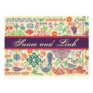 Asiatische Inspiration Postkarte