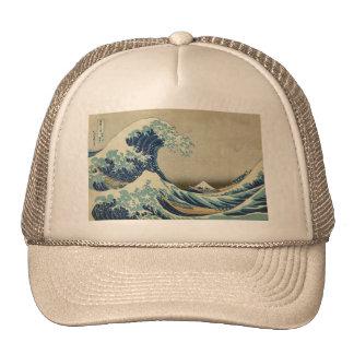 Asiatische Kunst - die große Welle weg von Trucker Mütze