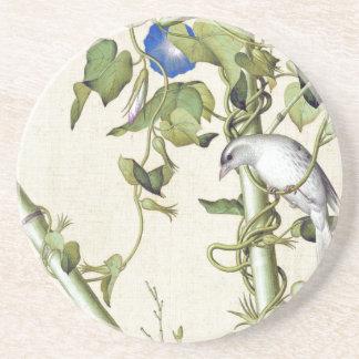 Asiatische Vogel-blauer Blumen-BambusUntersetzer Untersetzer