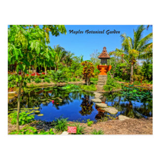 Asiatischer Garten - botanischer Garten Neapel, FL Postkarte