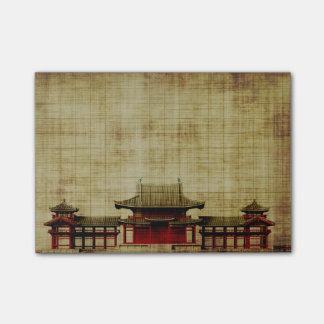 Asiatischer Palast auf Post-it Klebezettel