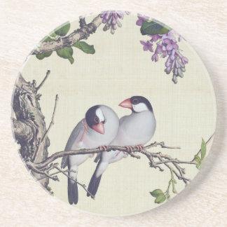 Asiatischer Vögelwisteria-Blumen-Tier-Untersetzer Getränkeuntersetzer