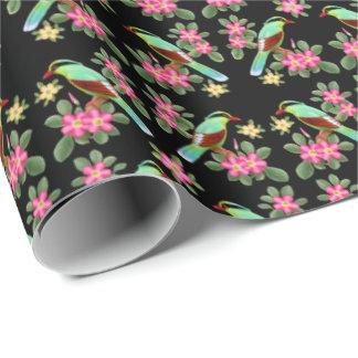 Asiatisches grünes Elster-Vogel-Packpapier Geschenkpapierrolle