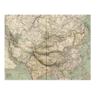 Asien-Atlas-Karte, die politische Abteilungen Postkarten