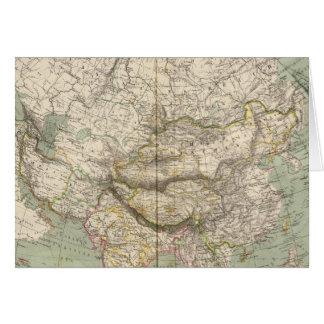 Asien-Atlas-Karte, die politische Abteilungen zeig Grußkarte