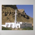 Asien, der Jemen, Tarim. Weiße Moschee Poster