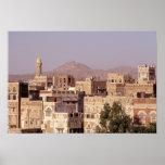 Asien, Mittlere Osten, Republik vom Jemen, Sana'a. Poster