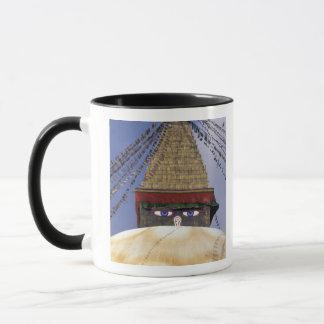Asien, Nepal, Kathmandu. Bouddhanath Stupa. 2 Tasse