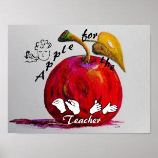 ASL Apple für den Lehrer Poster