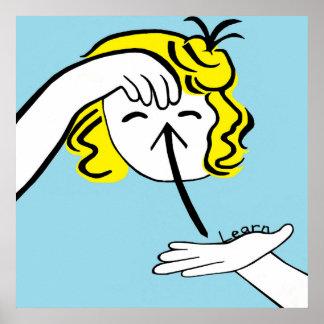 ASL lernen Poster