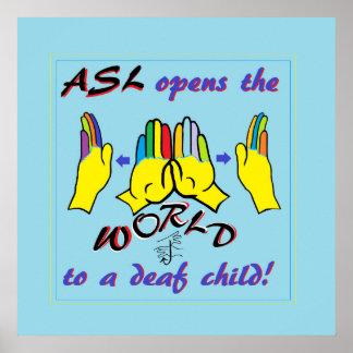 ASL öffnet die Welt Poster
