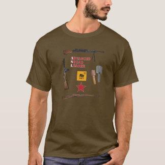 Asl-Sowjet-1. Linie Gruppe mit Waffen-Grenze T-Shirt