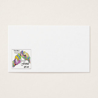 ASL Texas bedeutet Freund Visitenkarte
