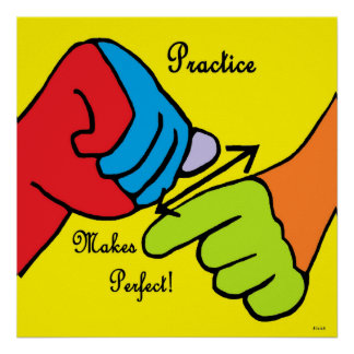 ASL Übung macht den Meister Poster