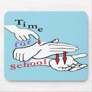 Asl-Zeit für Schule Mousepads
