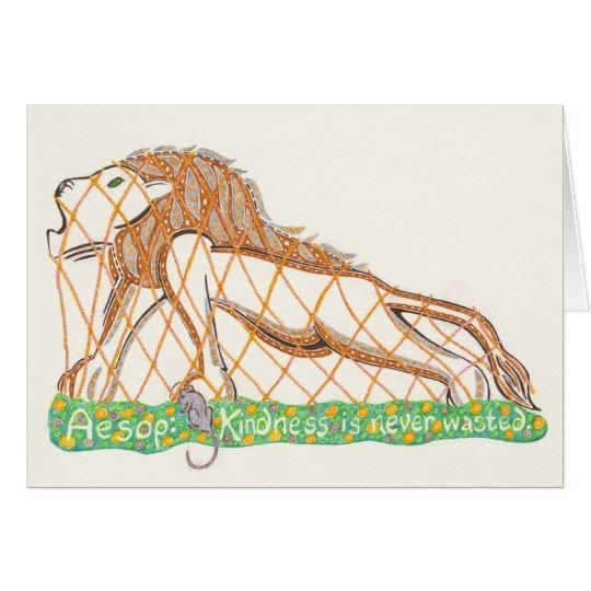 Äsops Maus und der Löwe Notecard Karte
