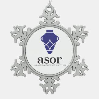 ASOR Zinn-Schneeflocke-Verzierung Schneeflocken Zinn-Ornament