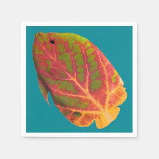 Aspen-Blatt-tropische Fische 1 Papierservietten