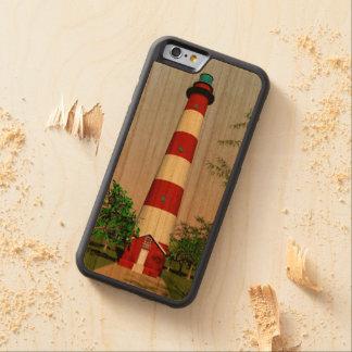 Assateague Lighthouse, Virginia Easterm Shore, Bumper iPhone 6 Hülle Kirsche