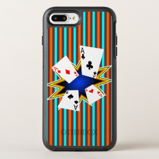 Asse auf Retro Hintergrund OtterBox Symmetry iPhone 8 Plus/7 Plus Hülle