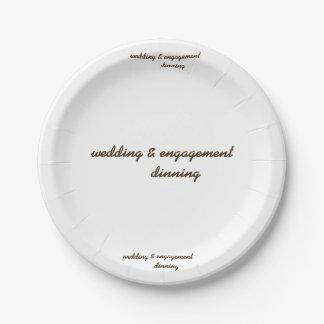Assiettes En Papier mariage fait sur commande et plaque à papier de