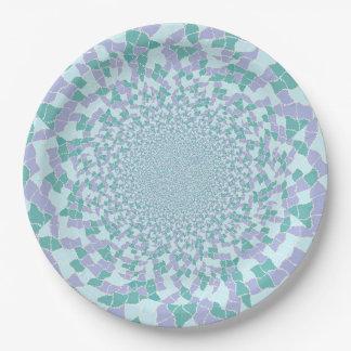 Assiettes En Papier Plaques à papier - l'eau brillent la conception