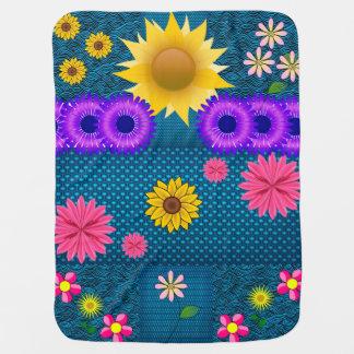 asst Blumen-Musterfrauen umfassend Babydecke