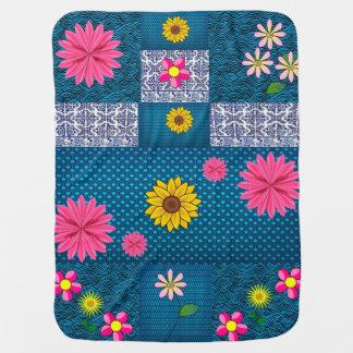 asst Blumen-Musterfrauen umfassend Kinderwagendecke