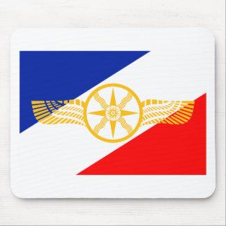 Assyrian Flagge, Chaldean Flagge, Syriac Flagge Mousepad