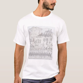 Assyrians, die bewegen einen Winged Stier auf T-Shirt
