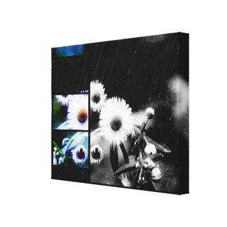 Aster-Aglow Kunst-Collage eingewickelte Leinwanddruck