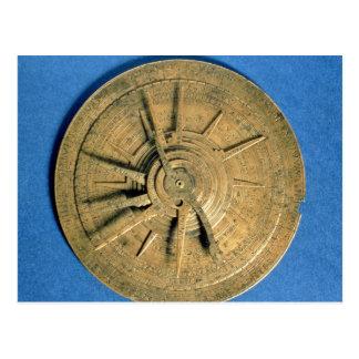 Astrolabe für Rechenhoroskope, europäisch Postkarte