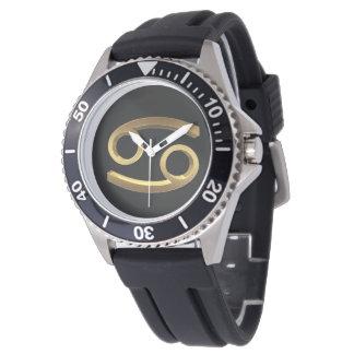 Astrologie-Tierkreis-Zeichen-Krebs-Goldsymbol Uhr